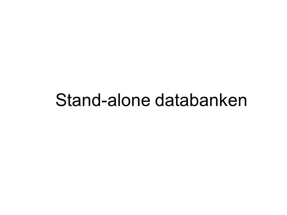 Stand-alone databanken
