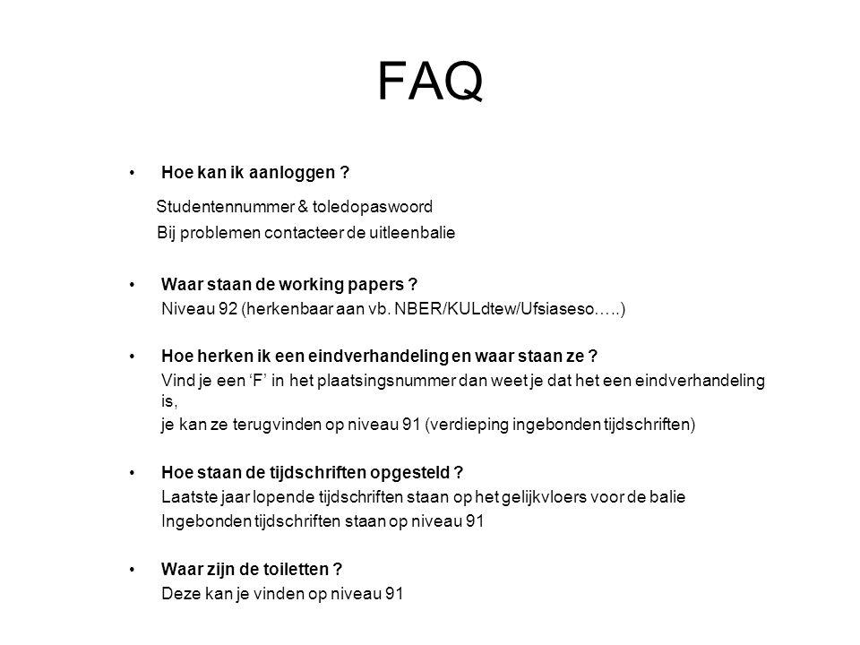 FAQ Hoe kan ik aanloggen .