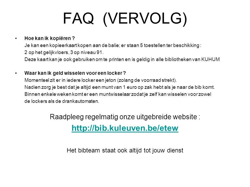 FAQ (VERVOLG) Hoe kan ik kopiëren .