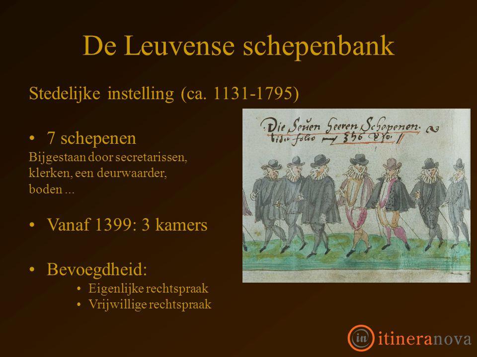 De Leuvense schepenbank Stedelijke instelling (ca.