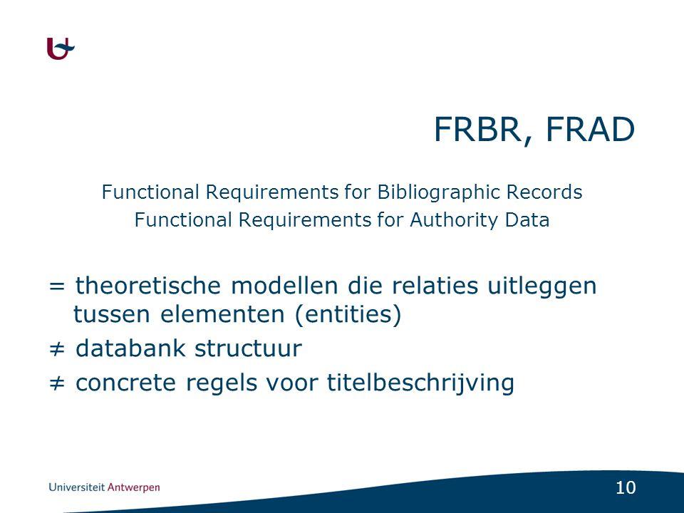 11 FRBR structuur Een boek is… Ademschommel