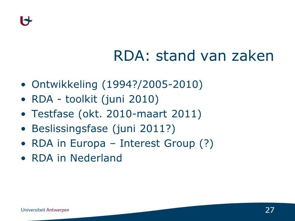 28 RDA en Anet FRBR structuur.Duidelijker. Eenvoudiger.