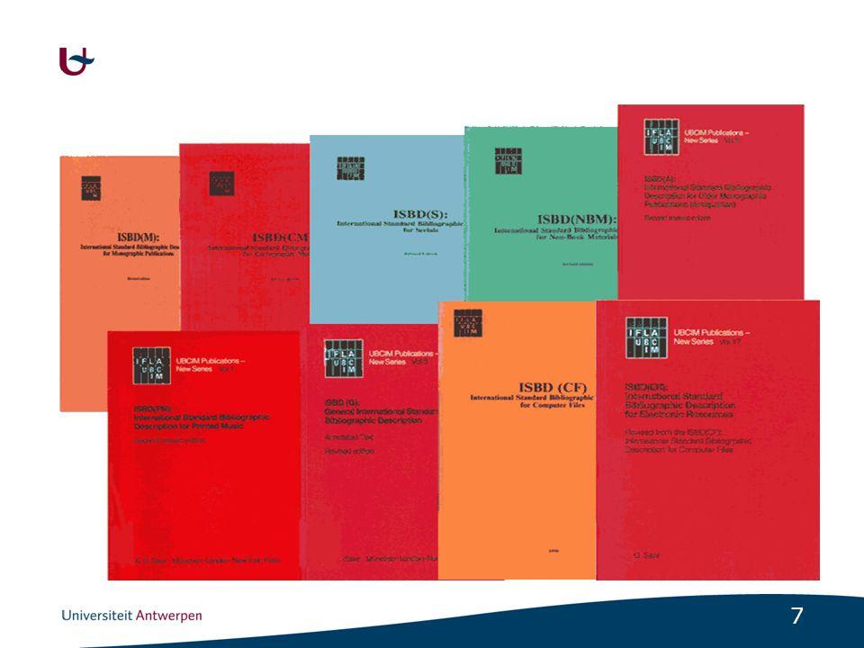 8 Aangepast aan de online/digitale wereld Algemene regels voor bijzondere formaten Voor nu en later Internationaal inzetbaar Open voor andere sectoren -Musea, archieven, uitgevers Makkelijk in gebruik -Catalogusgebruikers én catalografen