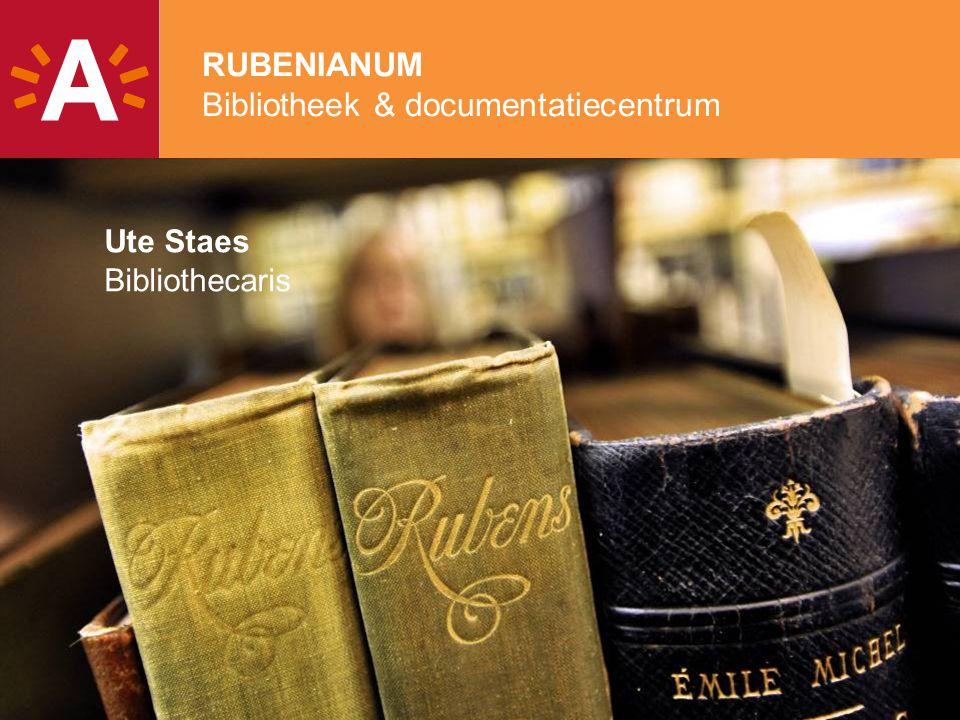 2 Rubenianum I. Wie we zijn II. Wat we doen III. Onze collecties