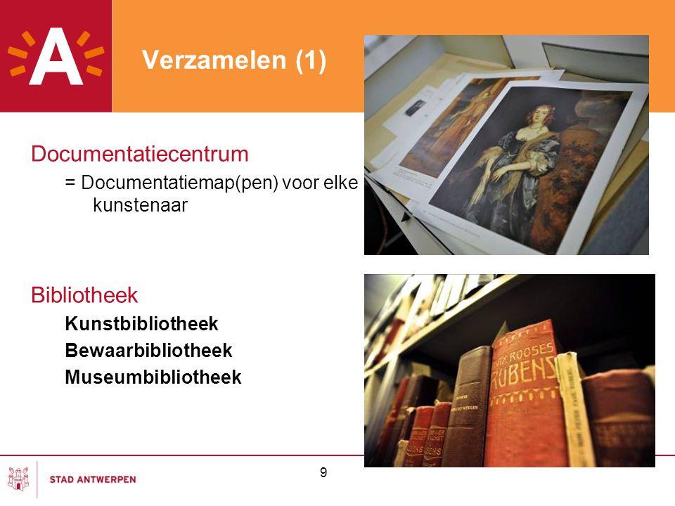 10 Verzamelen (2) Boeken: Kunstboeken, kunstenaarsmonografieën, congresbundels Tentoonstellings-, collectie-, kunsthandelscatalogi, Oude drukken Tijdschriften: 80-tal LAbo; Antilope Veilingcatalogi: 20-tal LAbo; 28.000 exemplaren (= uitdaging) Overdrukken: Volledigheid + excerpten Databanken: Lugt's repertoire ol; International Bibliography of Art Collecties: Ludwig Burchard (1963); Pierre de Séjournet (2011)