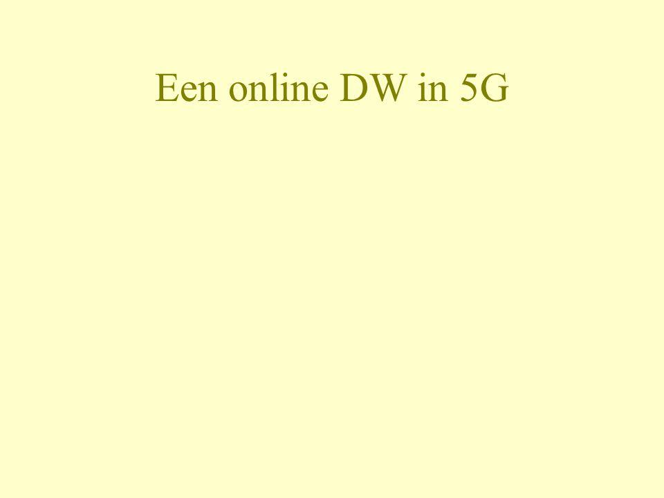 Een online DW in 5G