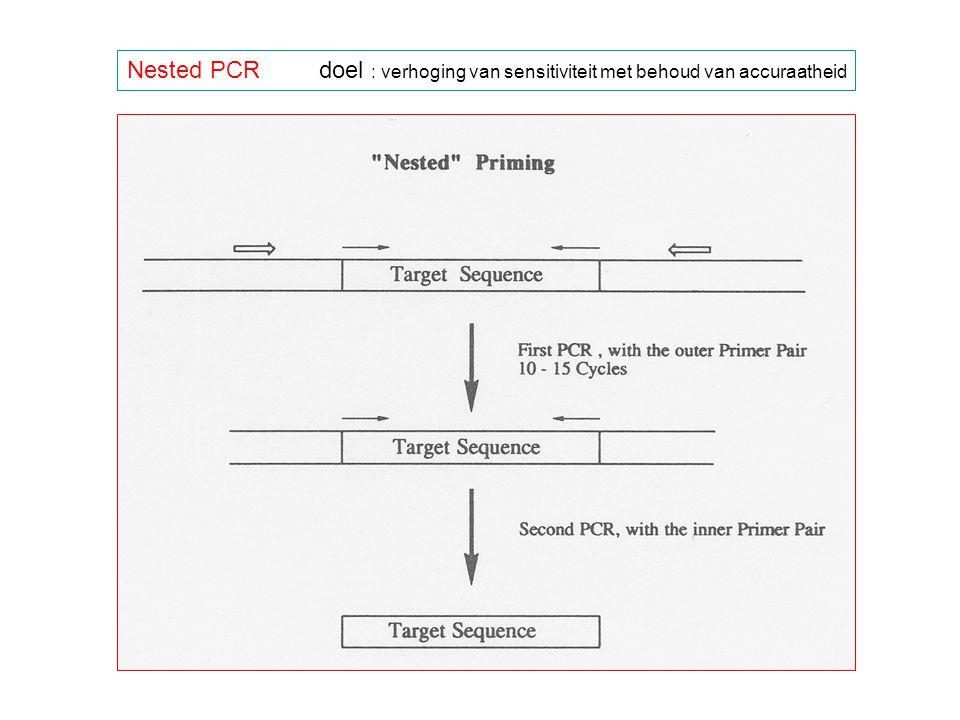 Nested PCRdoel : verhoging van sensitiviteit met behoud van accuraatheid