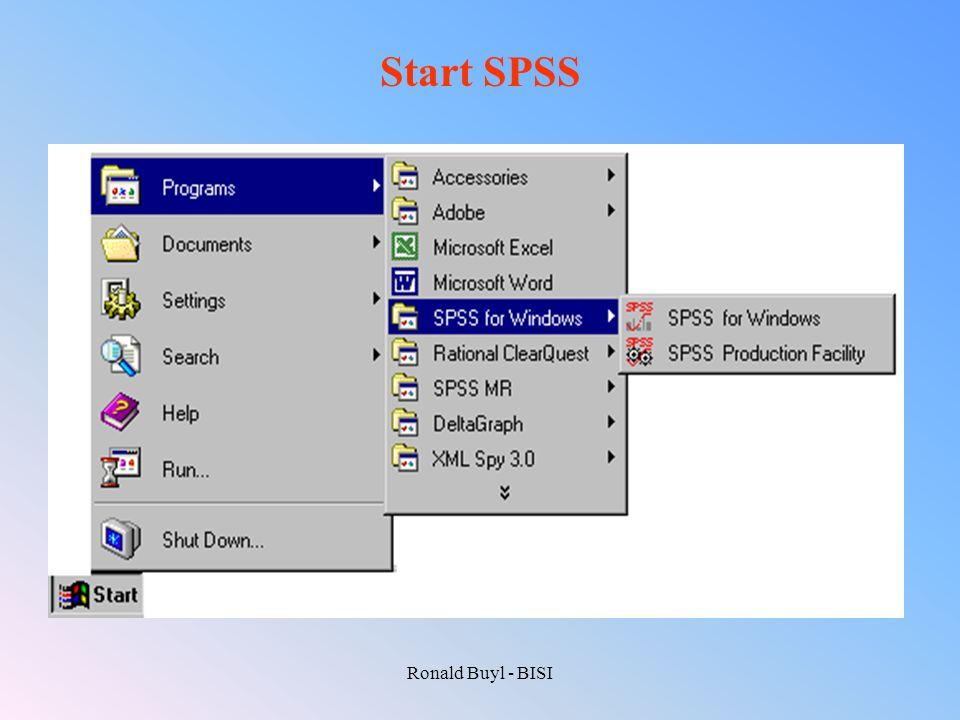 Ronald Buyl - BISI Start SPSS