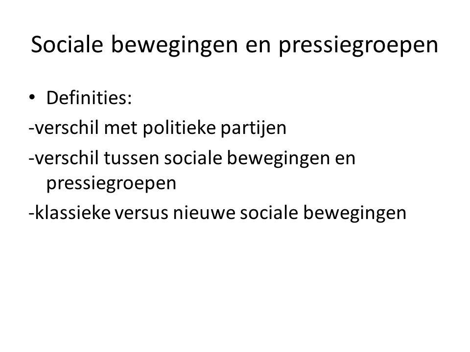 2 modellen wat betreft relatie tussen politieke besluitvorming en pressiegroepen: pluralisme en corporatisme PLURALISME (R.