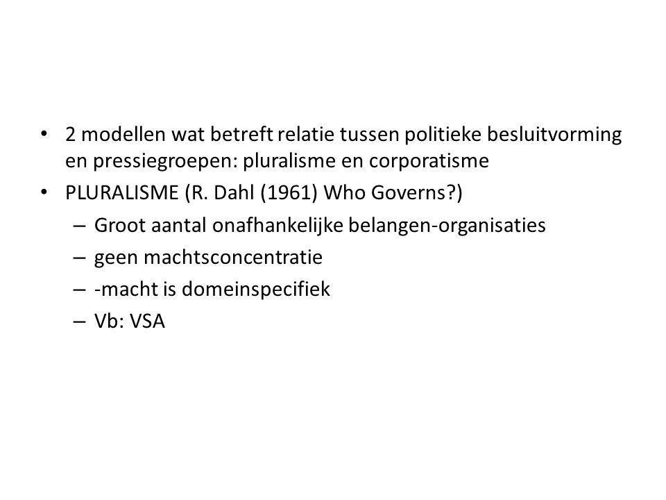 CORPORATISME (P.Schmitter/G.