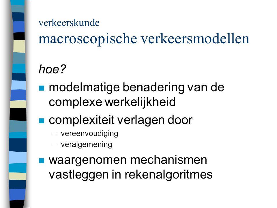 model Antwerpen vervoersvraag per relatie voorbeeld kosten auto: 30 min.