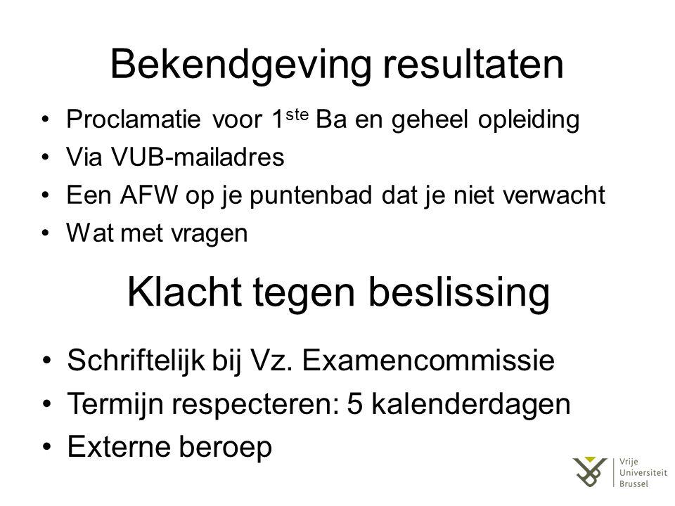 Bij problemen De facultaire ombudspersoon Prof.Dr.
