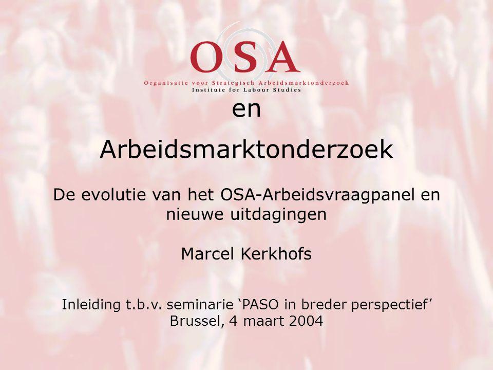 Arbeidsmarktonderzoek Marcel Kerkhofs Inleiding t.b.v.