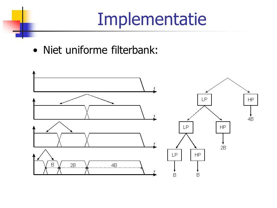 Implementatie Niet uniforme filterbank: