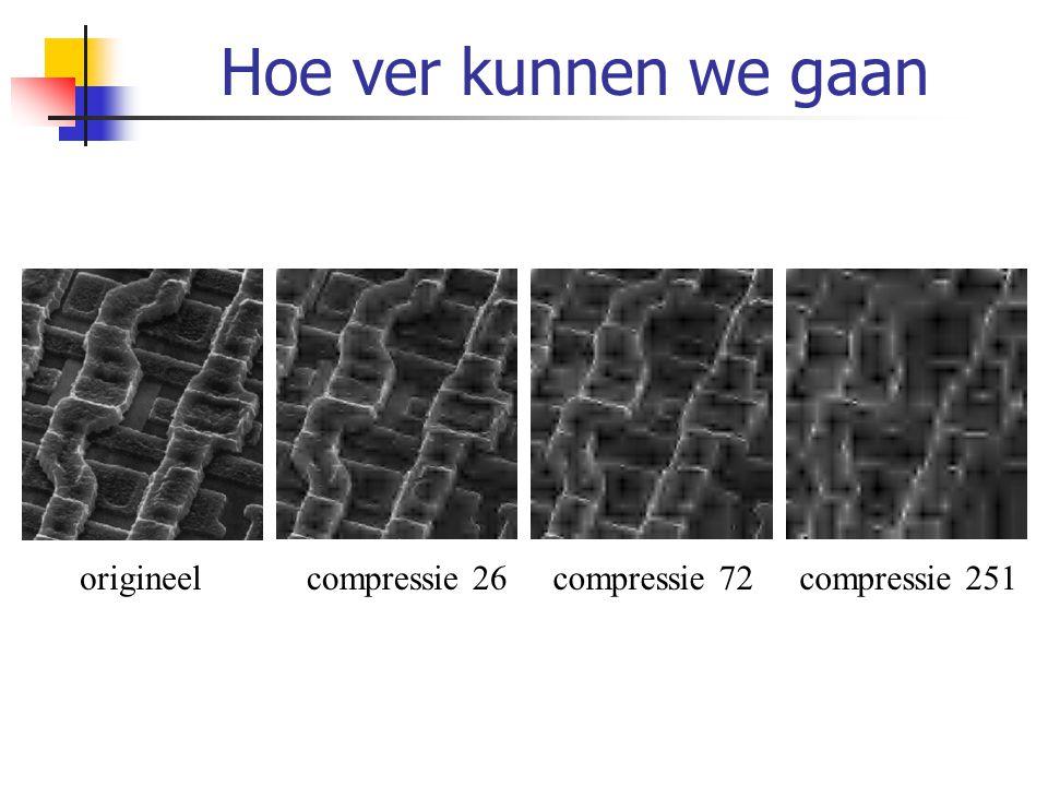 Hoe ver kunnen we gaan origineelcompressie 26compressie 72compressie 251
