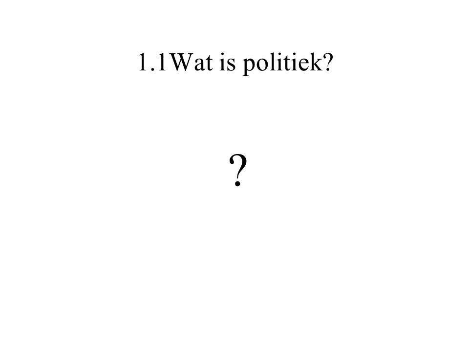 1.1Wat is politiek? ?