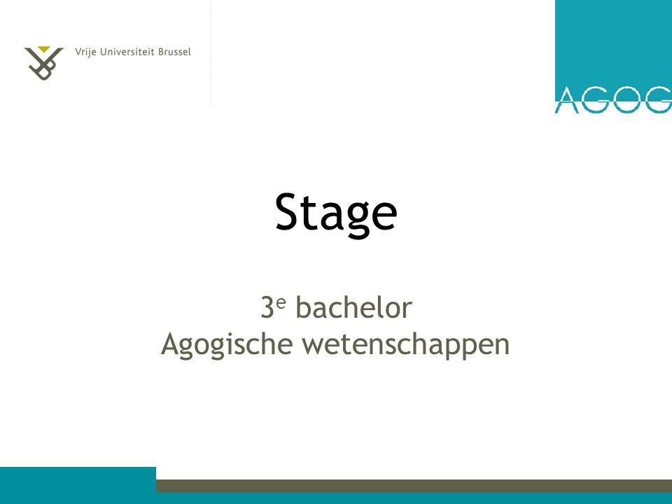 Stage 3 e bachelor Agogische wetenschappen