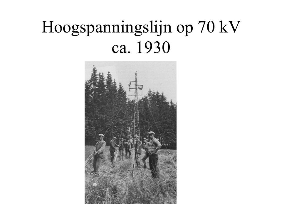 Hoogspanningslijn op 70 kV ca. 1930