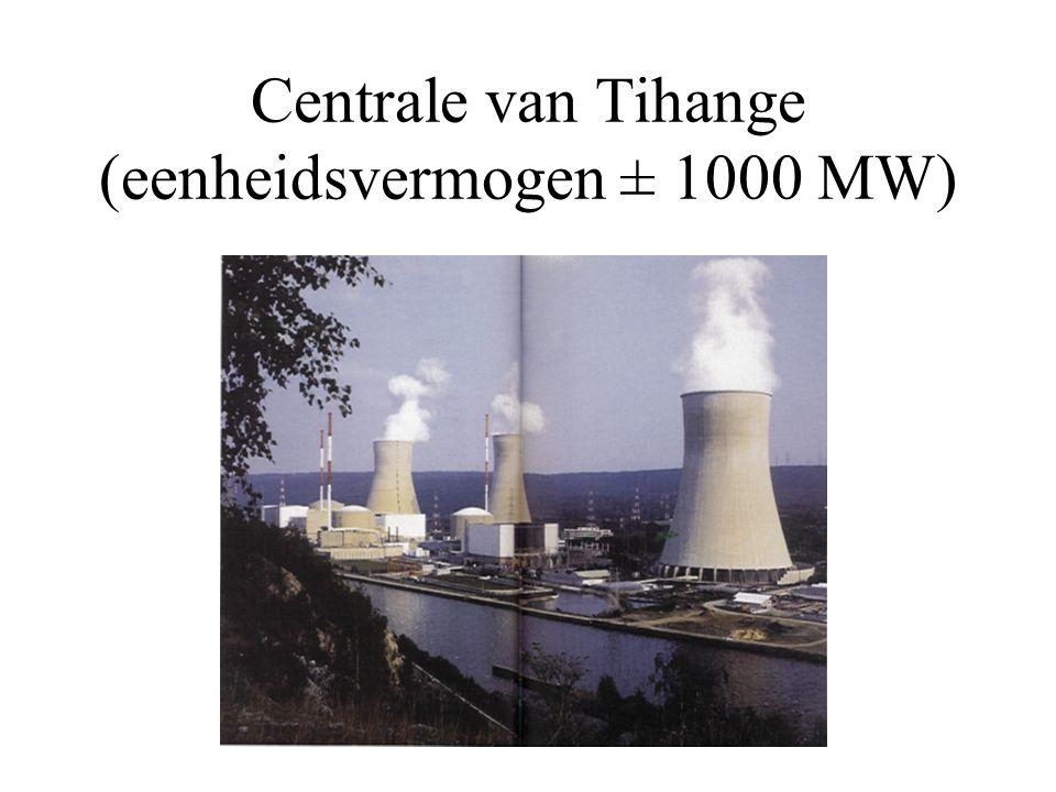 Centrale van Tihange (eenheidsvermogen ± 1000 MW)