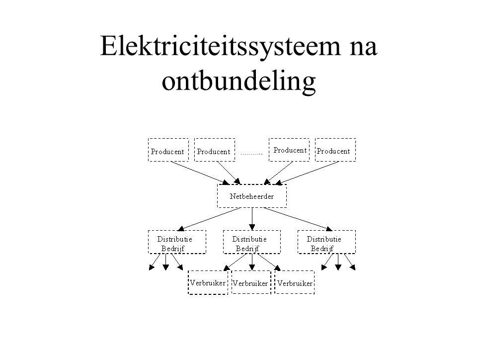 Vrije markt Lange termijn visie voor investeringen Energiebronnen Levensduur van elementen is lang Natuurlijk monopolie