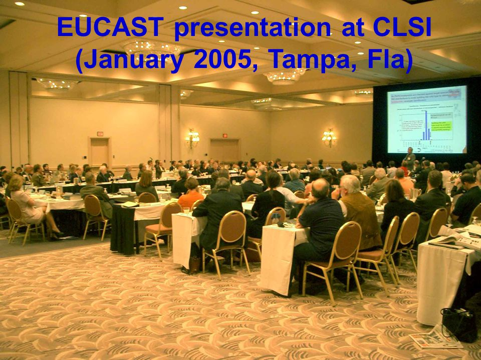 EUCAST Breekpunten - 2007 51 EUCAST presentation at CLSI (January 2005, Tampa, Fla)