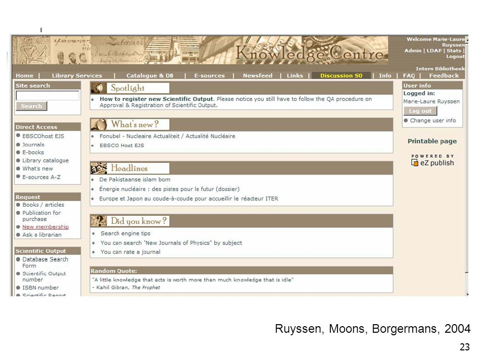23 Ruyssen, Moons, Borgermans, 2004