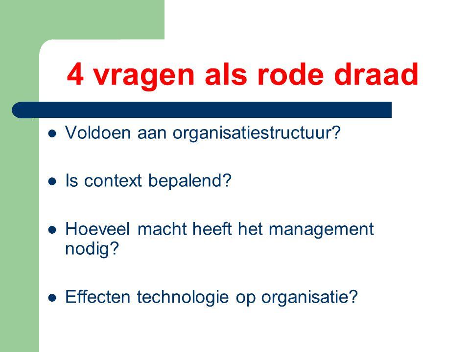 Onderzoek * in welke mate activiteiten structureren * methodes die verschillen nagaan * beperkingen context aan structuur