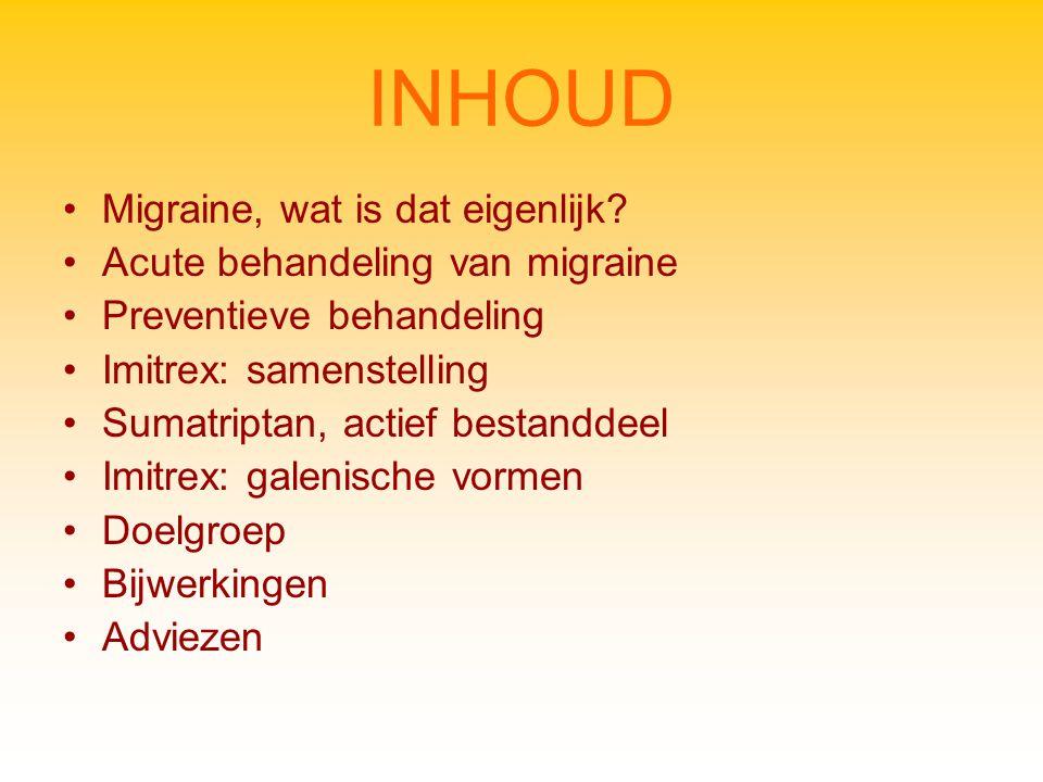 INHOUD Migraine, wat is dat eigenlijk.