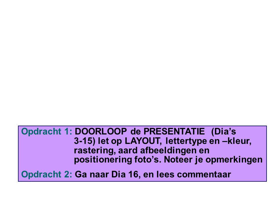 Opdracht 8: Aanpassing 2: Toevoeging Kop-Voettekst Klik op Beeld > Koptekst en Voettekst.