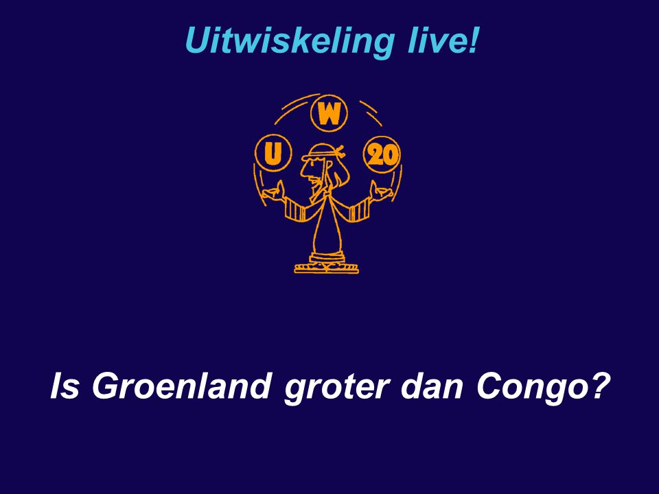 Uitwiskeling live! Is Groenland groter dan Congo?