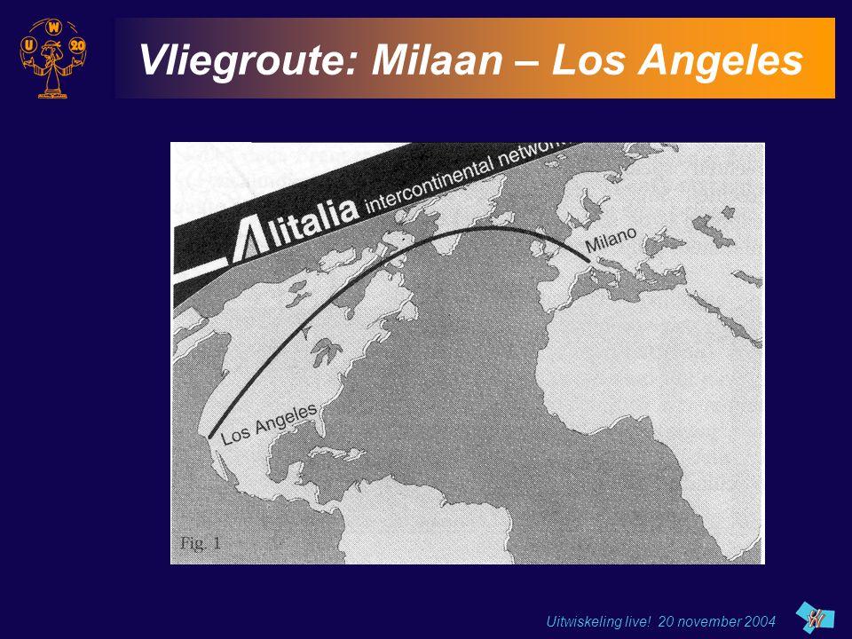 Uitwiskeling live! 20 november 2004 Vliegroute: Milaan – Los Angeles