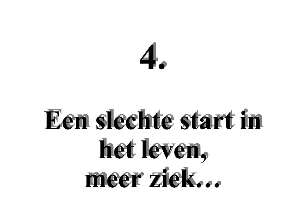 4. Een slechte start in het leven, meer ziek…