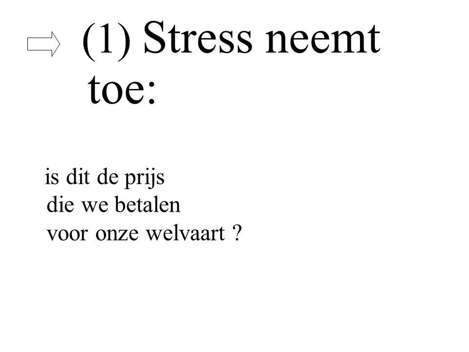 (1) Stress neemt toe: is dit de prijs die we betalen voor onze welvaart ?