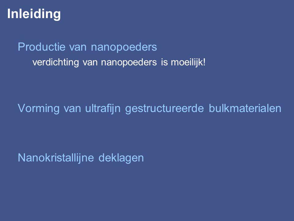 Nanokristallijne deklagen Gemodificeerd cvd of pvd: –v.b.