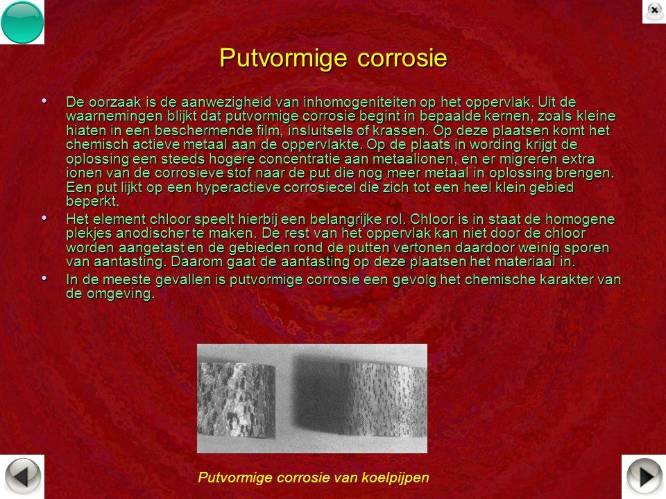 De oorzaak is de aanwezigheid van inhomogeniteiten op het oppervlak. Uit de waarnemingen blijkt dat putvormige corrosie begint in bepaalde kernen, zoa
