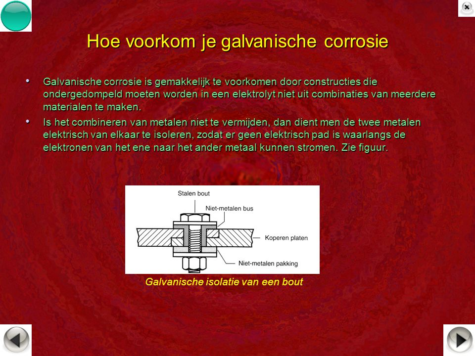 Hoe voorkom je galvanische corrosie Galvanische corrosie is gemakkelijk te voorkomen door constructies die ondergedompeld moeten worden in een elektro