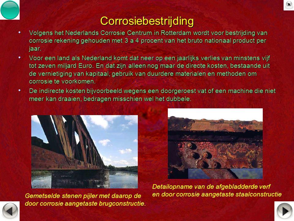 Corrosiebestrijding Volgens het Nederlands Corrosie Centrum in Rotterdam wordt voor bestrijding van corrosie rekening gehouden met 3 a 4 procent van h
