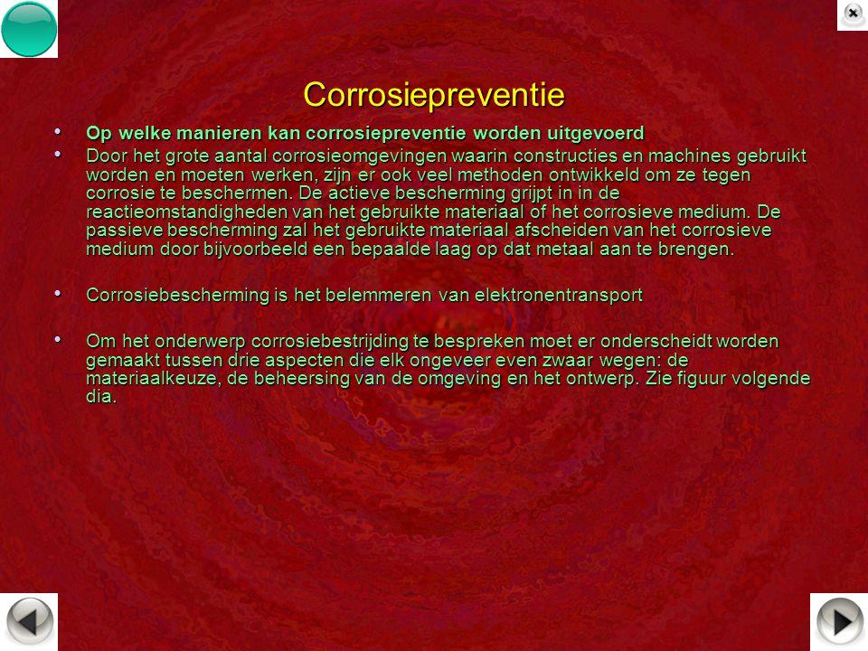 Corrosiepreventie Op welke manieren kan corrosiepreventie worden uitgevoerd Op welke manieren kan corrosiepreventie worden uitgevoerd Door het grote a