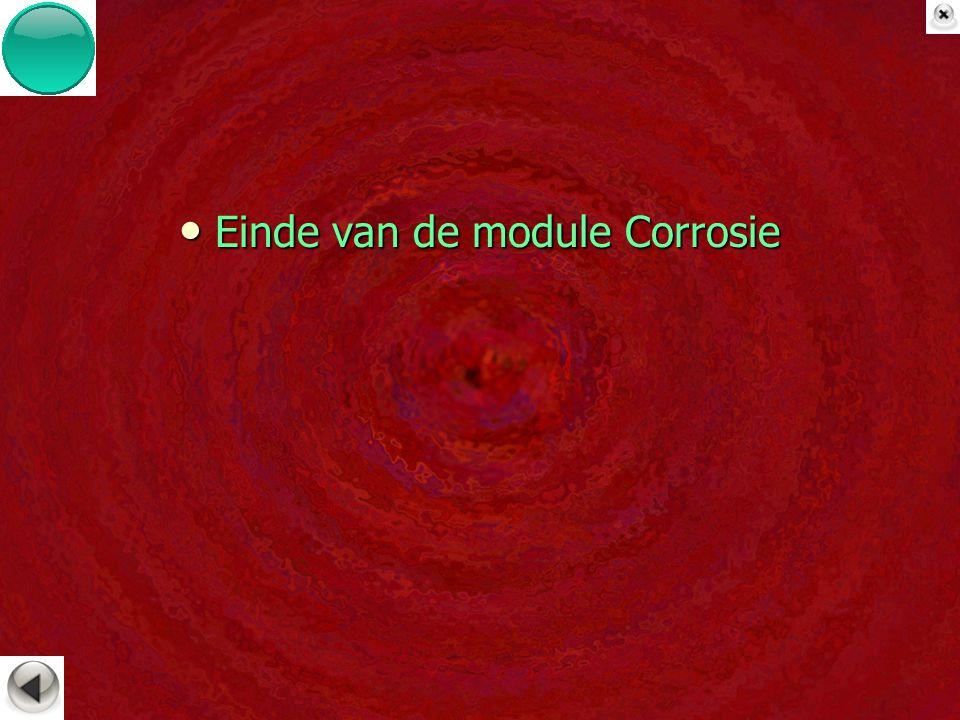 Einde van de module Corrosie Einde van de module Corrosie