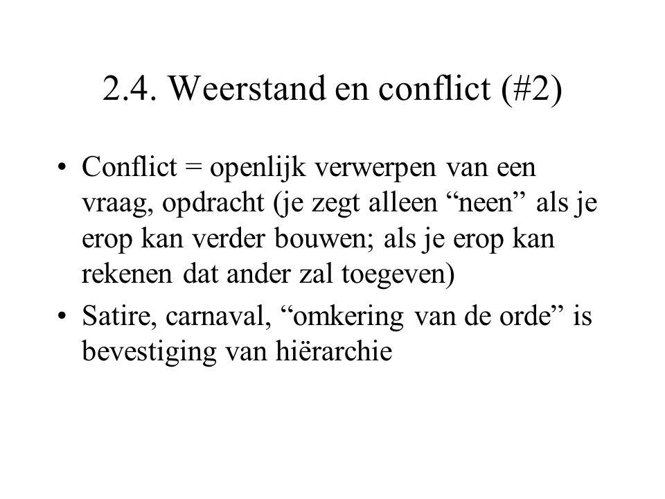 """2.4. Weerstand en conflict (#2) Conflict = openlijk verwerpen van een vraag, opdracht (je zegt alleen """"neen"""" als je erop kan verder bouwen; als je ero"""