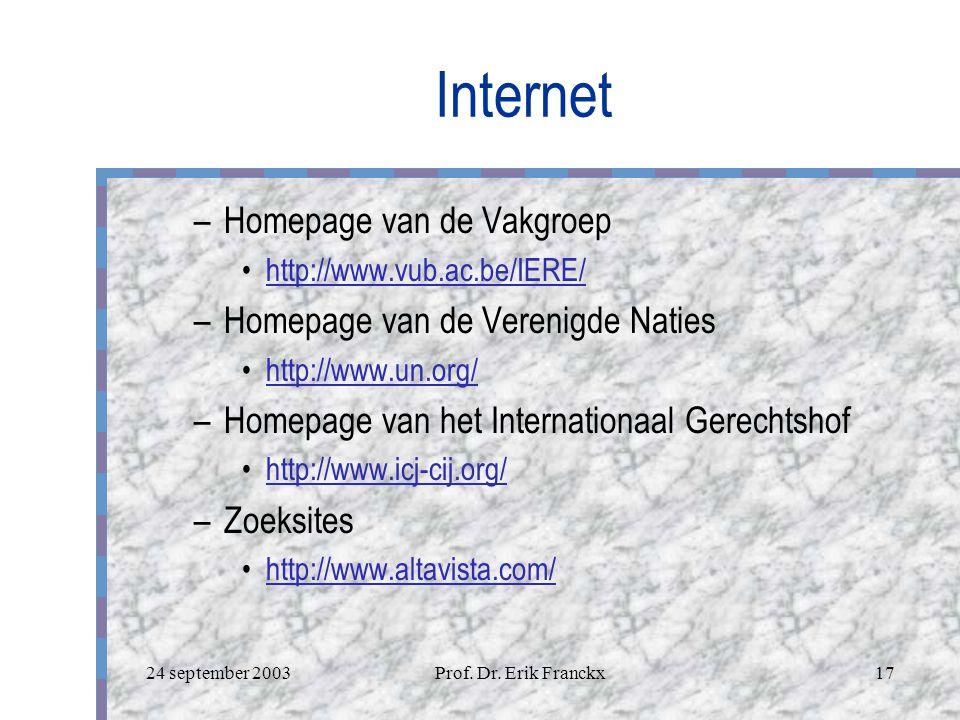 Internet en het Volkenrecht Logo van uw bedrijf Academiejaar 2003-2004