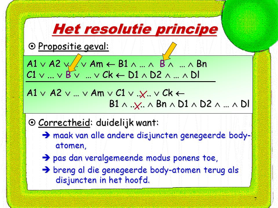 28 Expliciete Procedure: 1.Elimineer  en . 2.