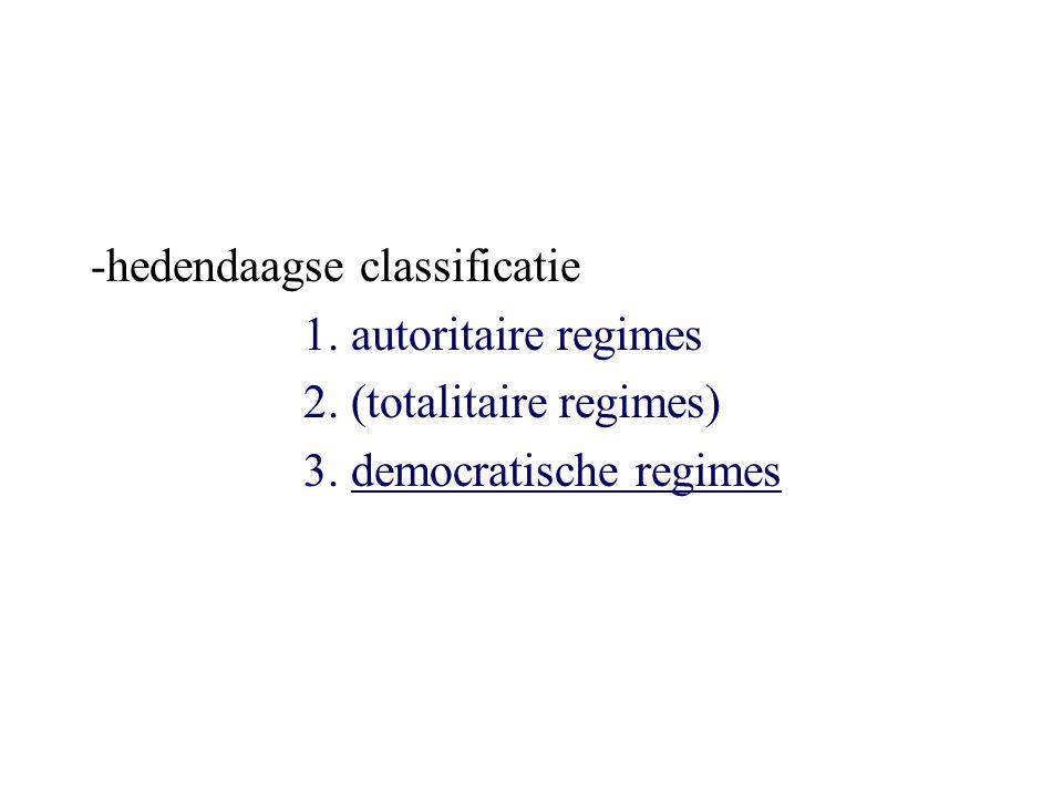 Democratische regimes: variatie In theorie zijn er 2 vormen van democratie mogelijk : directe en vertegenwoordigende In praktijk zijn hedendaagse democratische staten vertegenwoordigende democratieën (bevolking bestuurt niet zelf: neemt zelf geen beslissingen en voert ze zelf niet uit)