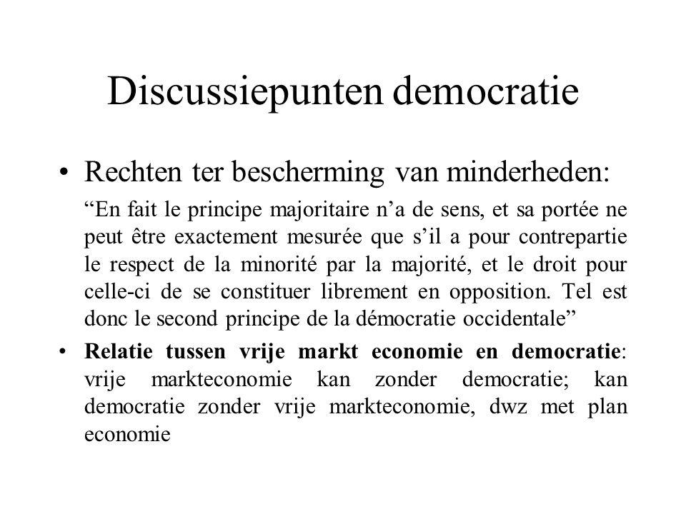 "Discussiepunten democratie Rechten ter bescherming van minderheden: ""En fait le principe majoritaire n'a de sens, et sa portée ne peut être exactement"
