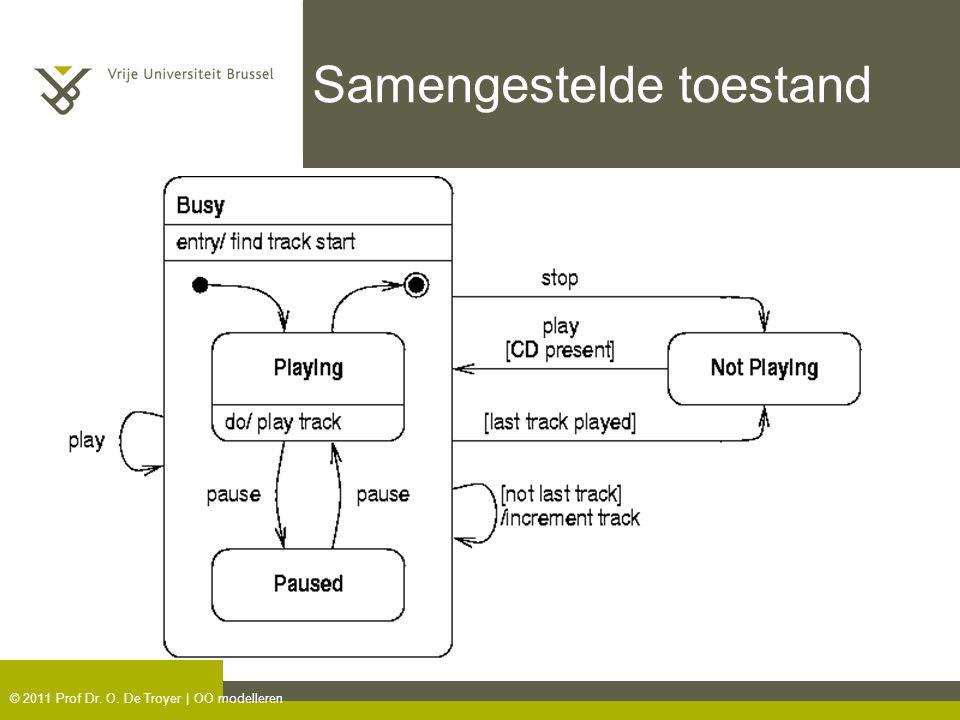 © 2011 Prof Dr. O. De Troyer | OO modelleren Samengestelde toestand