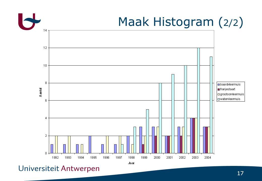 17 Maak Histogram ( 2/2 )