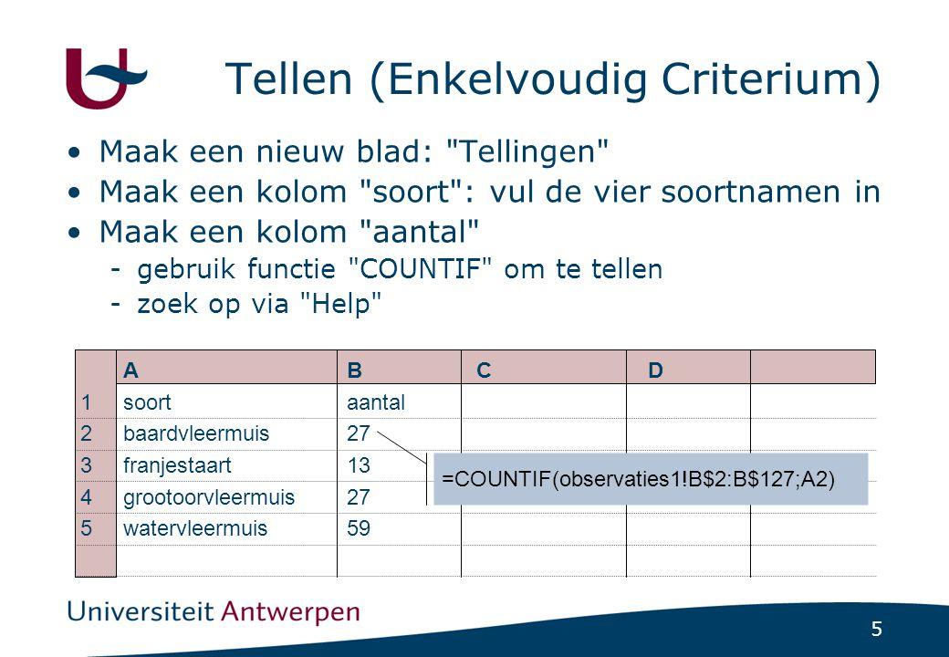 6 Controles Bereken resultaat via verschillende methodes -subtotalen en totalen -Resultaat verschillend .