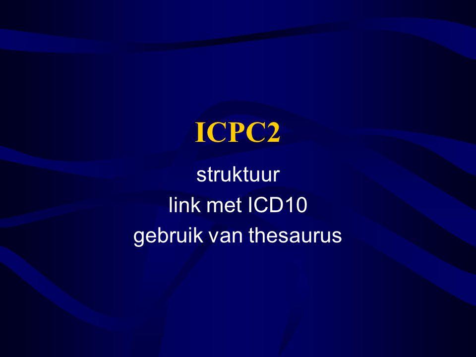 ICPC2 struktuur link met ICD10 gebruik van thesaurus
