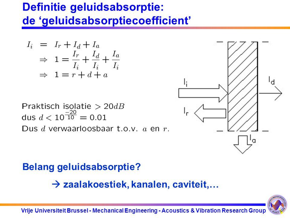 Vrije Universiteit Brussel - Mechanical Engineering - Acoustics & Vibration Research Group Poreuze materialen.