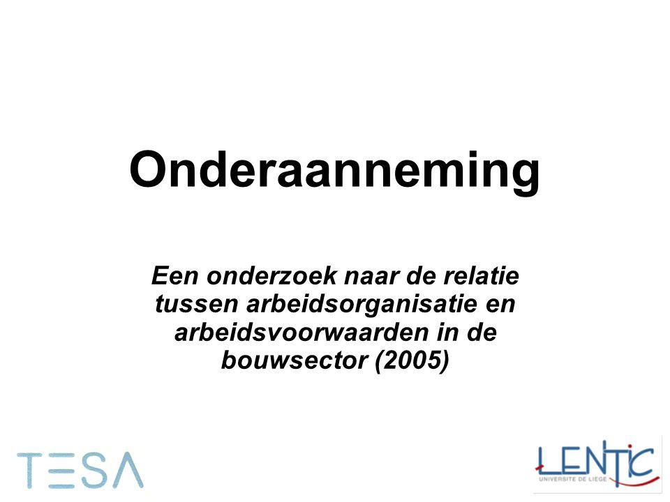 Onderaanneming Een onderzoek naar de relatie tussen arbeidsorganisatie en arbeidsvoorwaarden in de bouwsector (2005)